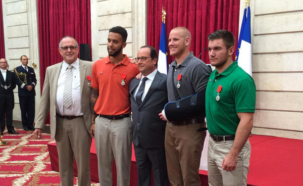 TGV train attack heroes honored Paris
