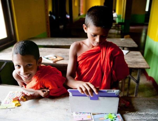 Sri Lanka Volunteer Monastery. monks