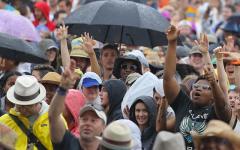 New Orleans Jazz Fest rain
