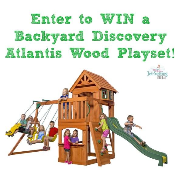 backyard discovery atlantis wood playset giveaway