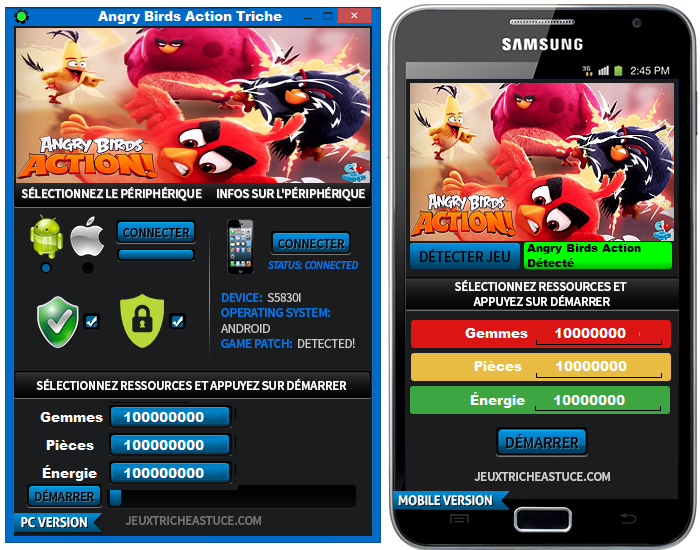 Angry Birds Action hack