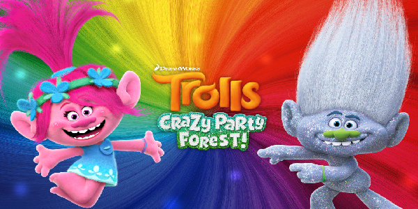 Trolls Crazy Party Forest Triche Astuce Cupcake d'Or, Bouton