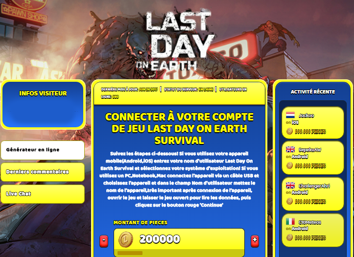 Last Day On Earth Survival triche, Last Day On Earth Survival triche en ligne, Last Day On Earth Survival triche android, Last Day On Earth Survival triche Pieces gratuit, Last Day On Earth Survival triche illimite Pieces, Last Day On Earth Survival triche ios, Last Day On Earth Survival triche ipad, Last Day On Earth Survival triche iphone, Last Day On Earth Survival gratuit Pieces, Last Day On Earth Survival triche samsung galaxy, Last Day On Earth Survival triche telecharger, Last Day On Earth Survival tricher, Last Day On Earth Survival tricheu, Last Day On Earth Survival tricheur, triche Last Day On Earth Survival, code de triche Last Day On Earth Survival, Last Day On Earth Survival astuce, Last Day On Earth Survival astuce en ligne, Last Day On Earth Survival astuce android, Last Day On Earth Survival astuce gratuit, Last Day On Earth Survival astuce ios, Last Day On Earth Survival astuce iphone, Last Day On Earth Survival astuce telecharger, Last Day On Earth Survival astuces, Last Day On Earth Survival astuces gratuit, Last Day On Earth Survival astuces android, Last Day On Earth Survival astuces ios,, Last Day On Earth Survival astuces telecharger, Last Day On Earth Survival astuce Pieces, Last Day On Earth Survival cheat, Last Day On Earth Survival cheats, Last Day On Earth Survival cheat Pieces, Last Day On Earth Survival cheat gratuit, Last Day On Earth Survival cheat iphone, Last Day On Earth Survival cheat telecharger, Last Day On Earth Survival hack online, Last Day On Earth Survival hack generator, Last Day On Earth Survival hack android, Last Day On Earth Survival hack Pieces, Last Day On Earth Survival illimité Pieces, Last Day On Earth Survival mod apk, Last Day On Earth Survival mod apk Pieces, Last Day On Earth Survival mod apk android, Last Day On Earth Survival outil, Last Day On Earth Survival outil de piratage, Last Day On Earth Survival pirater, Last Day On Earth Survival pirater en ligne, Last Day On Earth Survival pirater android, Last Day On Earth Survival pirater Pieces, Last Day On Earth Survival pirater gratuit, Last Day On Earth Survival pirater ios, Last Day On Earth Survival pirater iphone, Last Day On Earth Survival pirater illimite Pieces, Last Day On Earth Survival triche jeu, Last Day On Earth Survival astuce triche en ligne, comment tricheur sur Last Day On Earth Survival, Pieces gratuit dans Last Day On Earth Survival, Last Day On Earth Survival illimite Pieces, Last Day On Earth Survival hacken, Last Day On Earth Survival beschummeln, Last Day On Earth Survival betrügen, Last Day On Earth Survival betrügen Pieces, Last Day On Earth Survival unbegrenzt Pieces, Last Day On Earth Survival Pieces frei, Last Day On Earth Survival hacken Pieces, Last Day On Earth Survival Pieces gratuito, Last Day On Earth Survival mod Pieces, Last Day On Earth Survival trucchi, Last Day On Earth Survival engañar