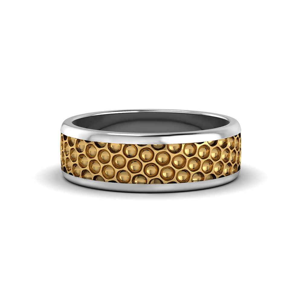 mens wedding rings mens christian wedding bands Honeycomb Men s Wedding Ring