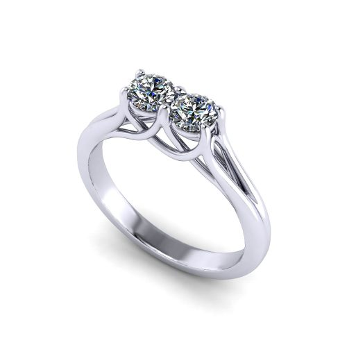 Medium Crop Of Two Stone Ring