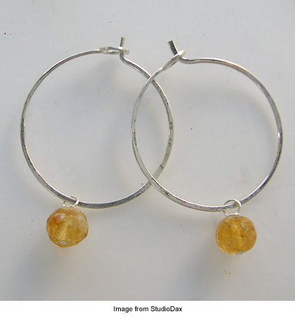 wire hoop earrings from StudioDax