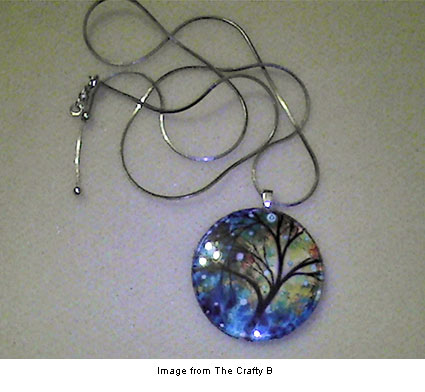 Art pendant tutorial from the Crafty B