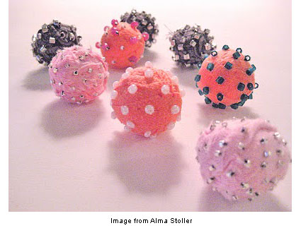 fabric beads from Alma Stoller