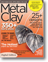 cover of Easy Metal Clay magazine from Interweave