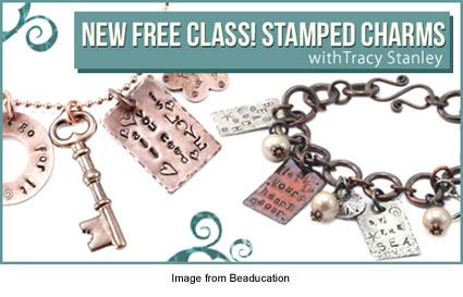 stamped charms
