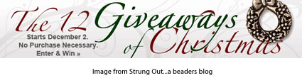 12 giveaways for Christmas from Strung Out a beaders blog