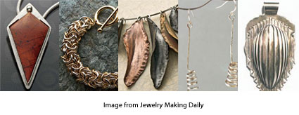 five free projects from Jewelry Making Daily