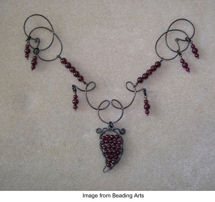 Necklace by Paul Bishop entitled Midnight in the Garden of Good and Medieval