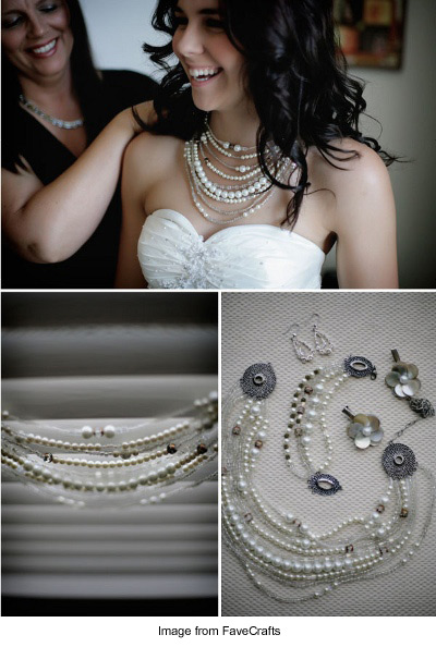Pearl Wedding Necklace form Style Me Pretty
