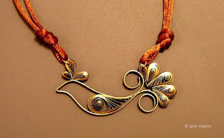 quilled paper pendant