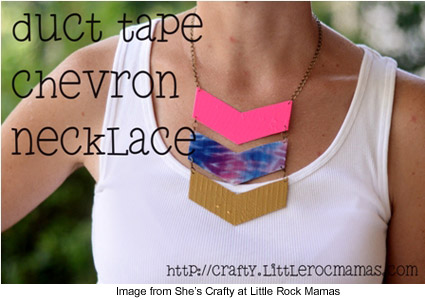 duct tape chevron necklace tutorial from She's Crafty