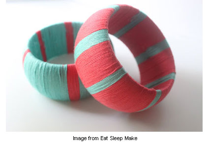 yarn-wrapped bangles from Eat Sleep Make