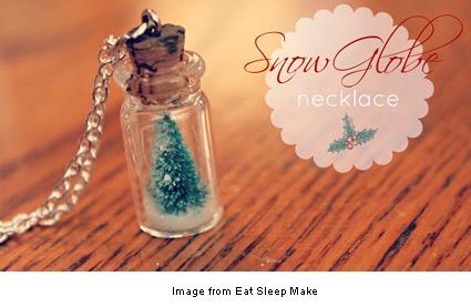 mini snow globe pendant