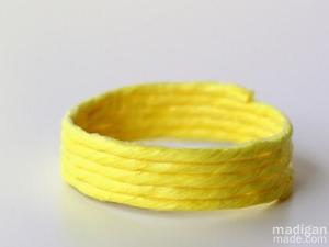Neon Yello Raffia Bracelet