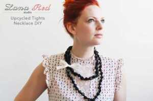 Upcycled Tights Necklace