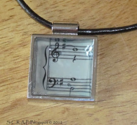 Sheet Music Pendant