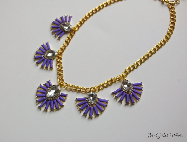 DIY Purple Necklace