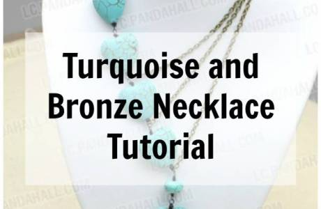 DIY Turquoise and Bronze Necklace
