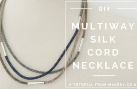 DIY Silk Cord Necklace You Can Wear Many Different Ways