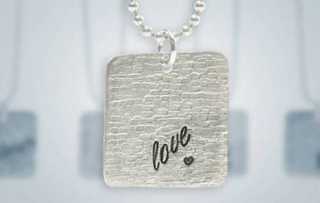 Textured Love Pendant