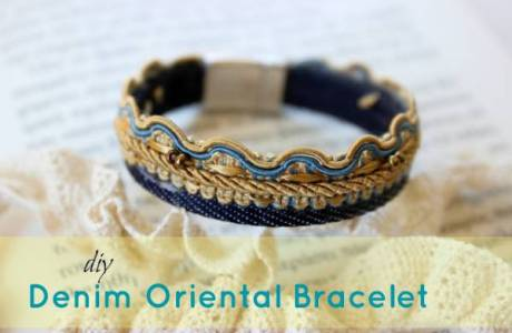 DIY Denim Oriental Bracelet