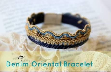 DIY Denim Oriental Bracelet