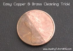copper and brass cleaning trick