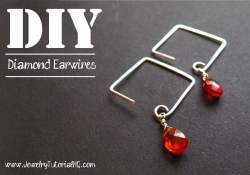 How to Make Diamond Shaped Earwires {Video}