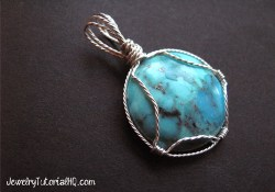 wire wrapped cabochon pendant tutorial