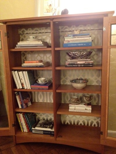 Lining Bookshelves: Decorating Inside the Box | Jewels at Home