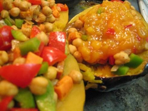 Chutney-glazed Stuffed Acorn Squash by the Gluten-Free Doctor