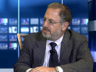 Rabbi Lewis Eron, chaplain at Lion's Gate CCRC, Voorhees, NJ, pictured in The Lubetkin Media Companies TV studio in Cherry Hill, NJ