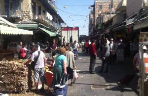 Yom HaShoah Holocaust Remembrance Day 2014 from the Shuk in Jerusalem