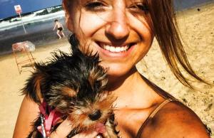 michelle appelbaum with puppy
