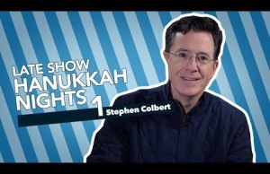 Stephen Colbert Celebrates The First Night Of Hanukkah