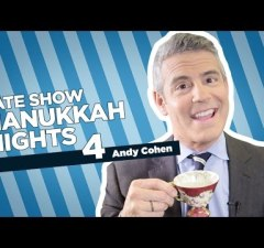 Stephen Colbert Celebrates The Third Night Of Hanukkah with Andy Cohen