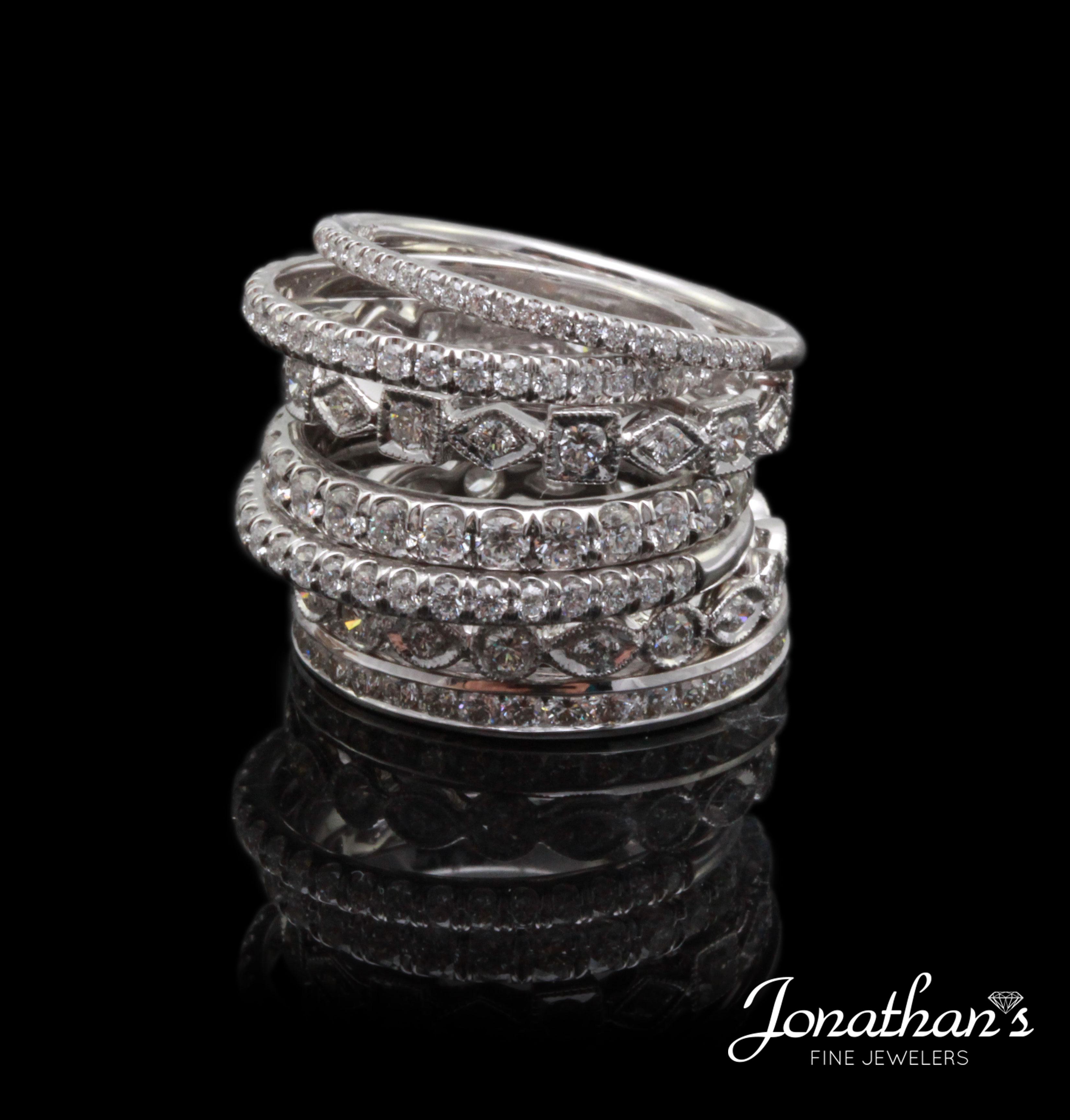 unique diamond wedding rings stackable wedding bands unique diamond wedding rings pictures