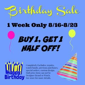 Birthday Sale 2017