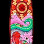 mixed media on Surfboard