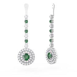 Enamour Diamond Halo G Earrings Drops Fusion Emerald Fusion Emerald Diamond Halo G Earrings G Earrings At Macy S G Earrings Uk