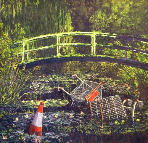 Banksy 『Monet with Shopping Trolleys』