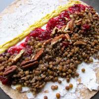 Lentil Cranberry Wrap - I'd Serve to Adele