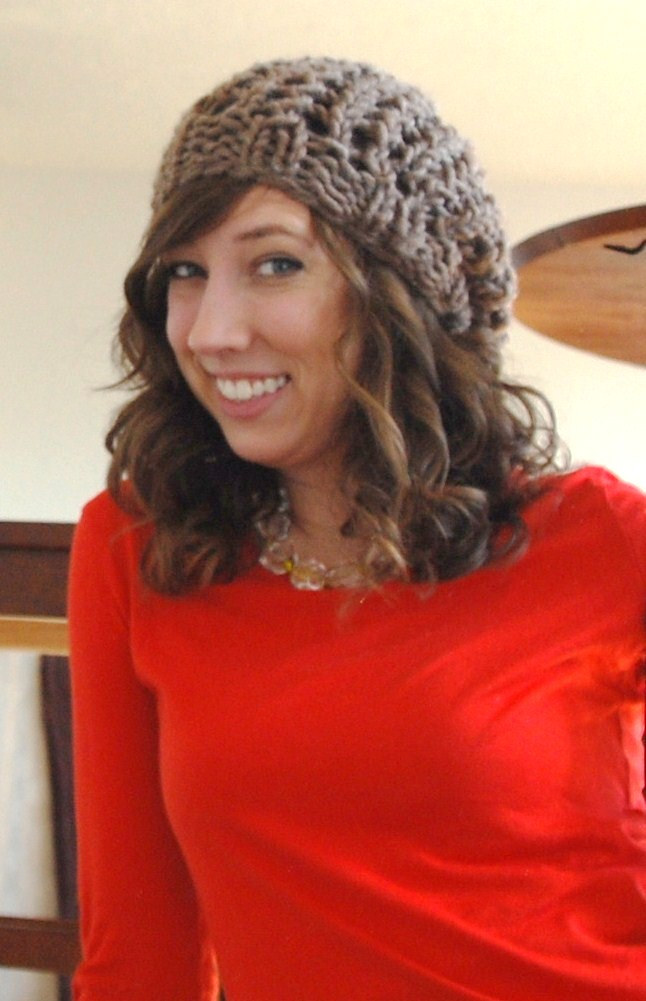 Chunky Knit Fall Hat Free Pattern - Open Lace Design by ...