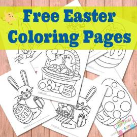 Free Easter coloring pages from itsybitsyfun.com