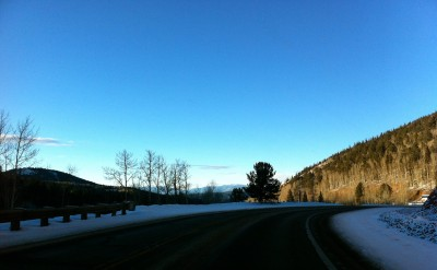 Highway 67, leaving Cripple Creek, CO